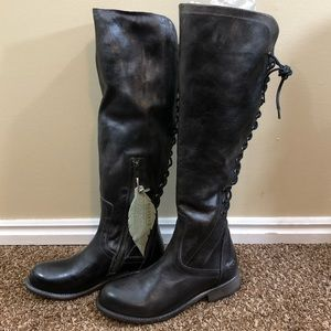NWOB BedStud Surrey Tall Lace Up Boot
